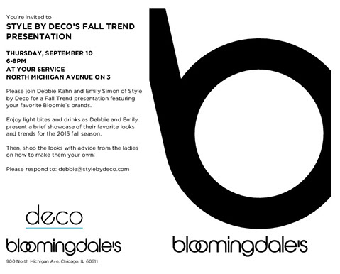 Bloomingdales Fall Trends card